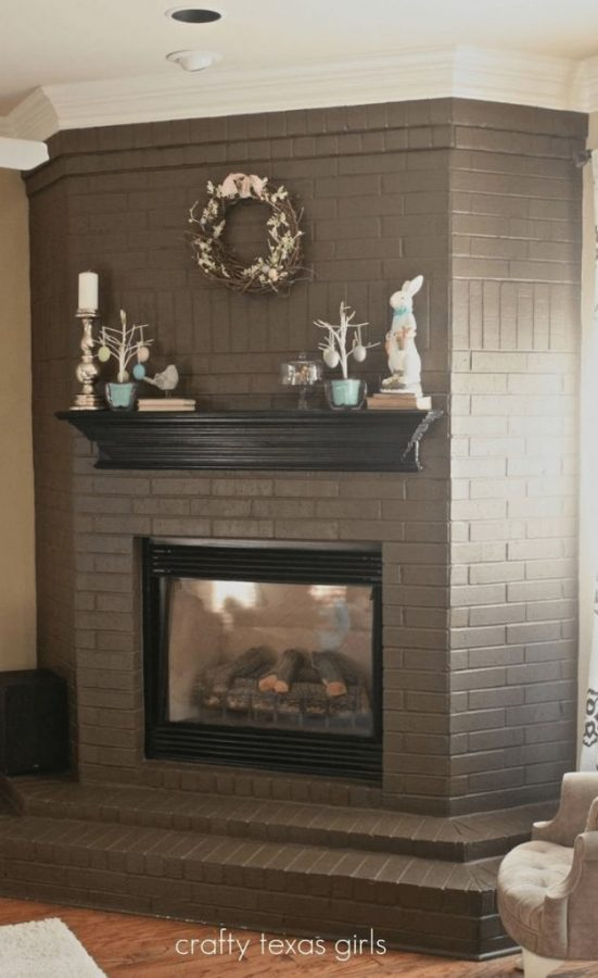 One-colored Neutrals Fireplace