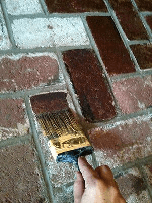 Natural Brick Painting for fireplace