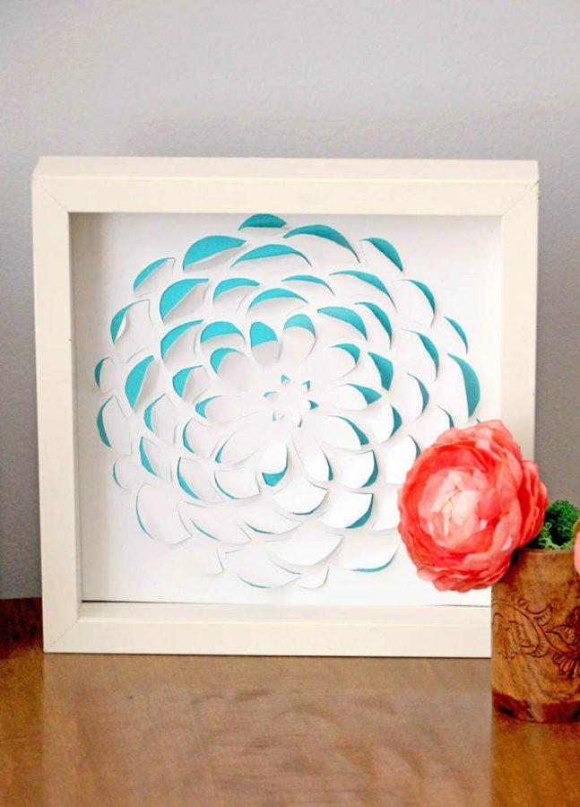 3D Scrapbook Paper Wall Art