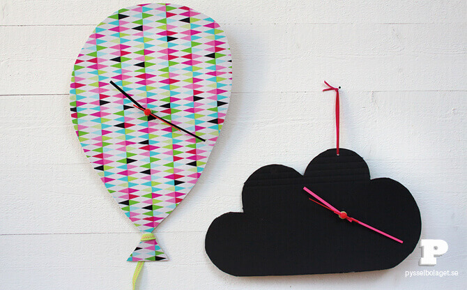 Cardboard Clock - cardboard box ideas