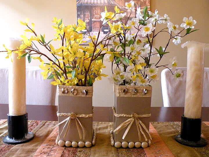 Cardboard Flower Vases