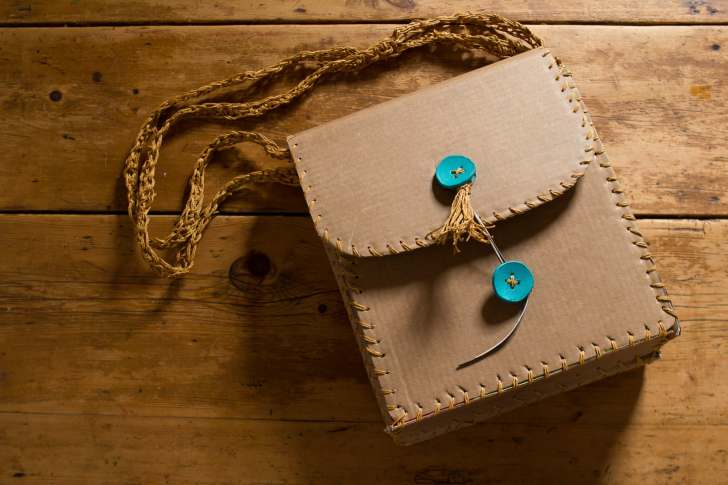 Cardboard Shoulder Bag - Cardboard Box Ideas