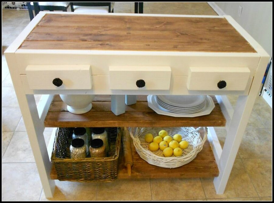 DIY Kitchen Island Made With 2x4s