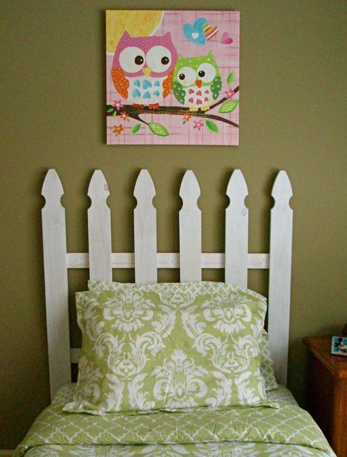 DIY Picket Fence Headboard for Kids Room