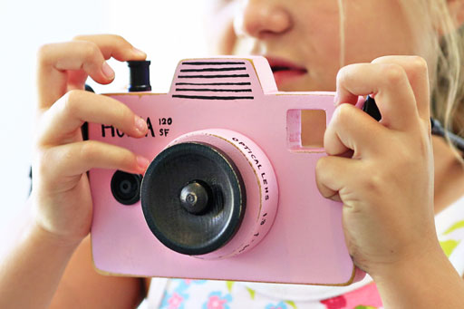 DIY Wood Toy Camera for Kids