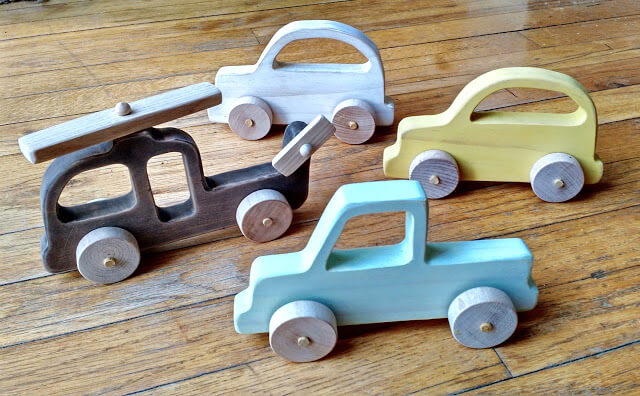 DIY Wooden Toy Vehicles for Kids