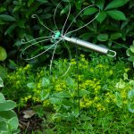 Garden Art Ideas - Dragonfly Garden Decor using a Wire Whisk Skewer