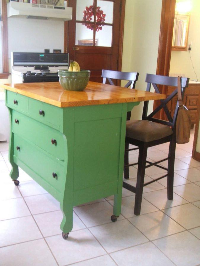 DIY Kitchen Island from the Dresser