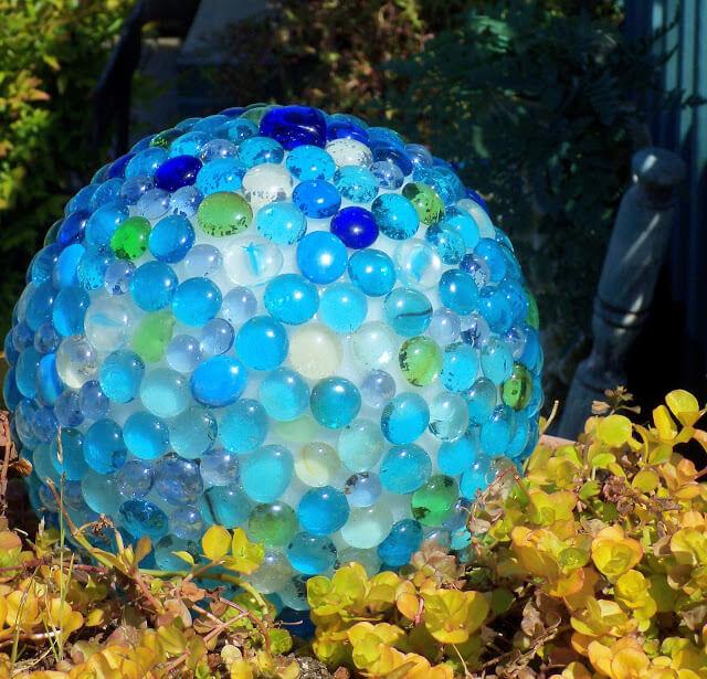 Garden Art Ideas - Glass Garden Balls