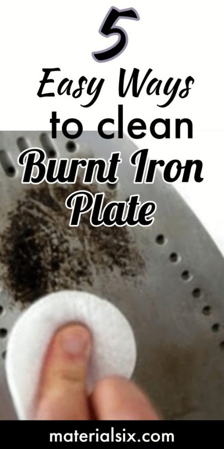 5 Ways to clean burnt iron plate