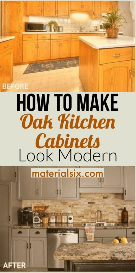How to Make Oak Kitchen Cabinets Look Like New & Modern