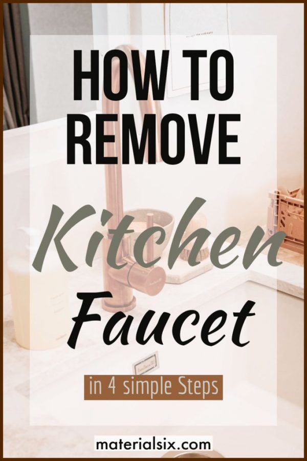 how to remove kitchen faucet easily