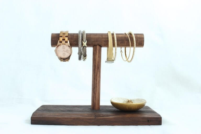 Jewelry Holder Stand from Scrap Wood