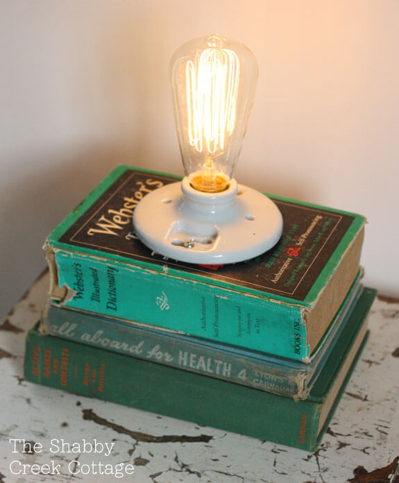 Lamp out of Books