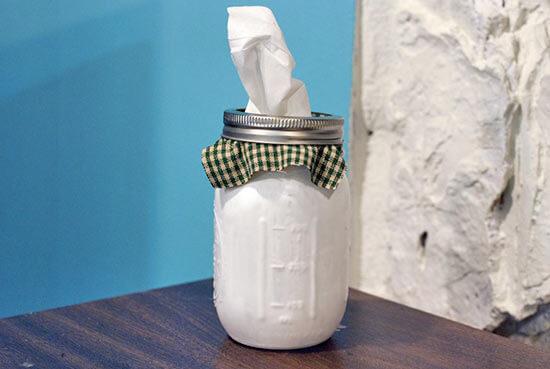 Mason Jar Tissue Holder