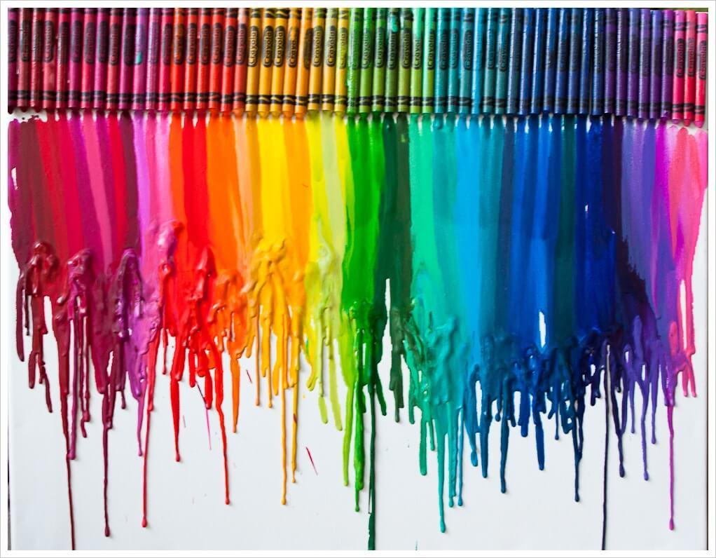 Melted Crayon Art - DIY Wall Art Ideas