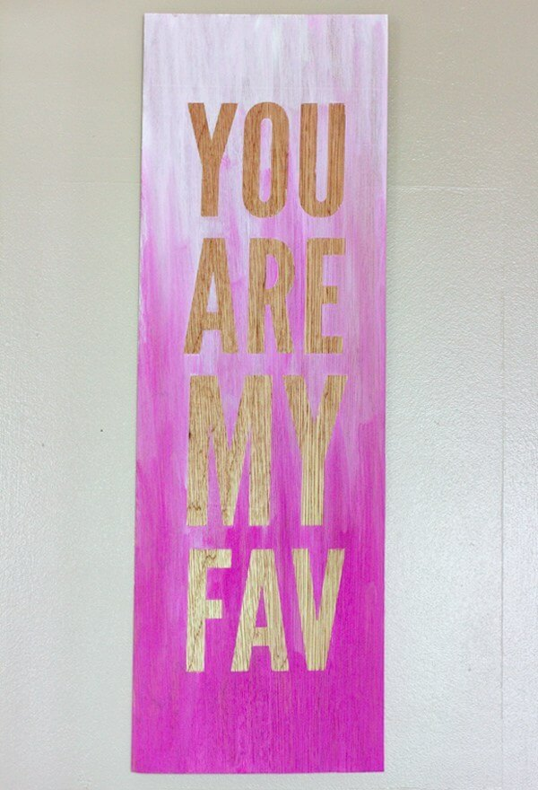 DIY Wall Art Ideas - Ombre Quote Wall Art