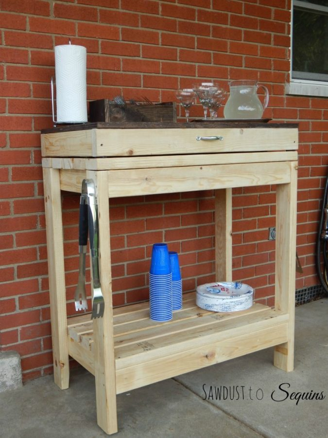 Party Cart - diy 2x4 wood projects