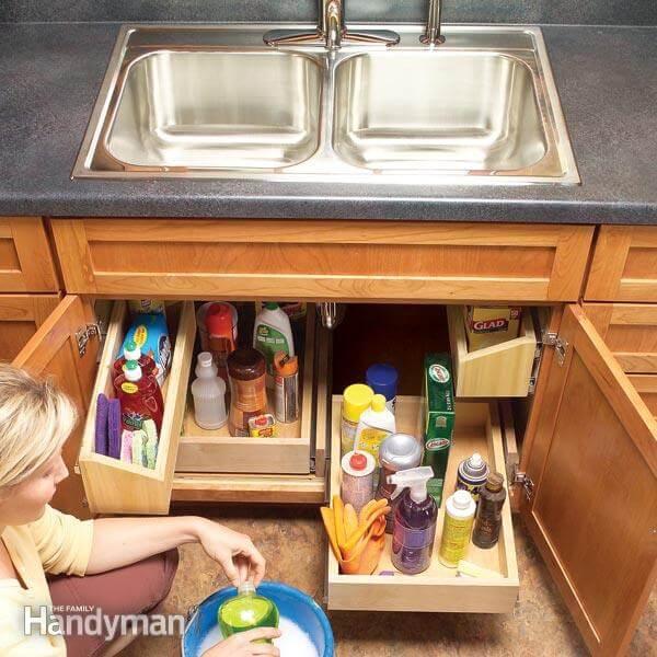 Perfect Kitchen Sink Storage Trays