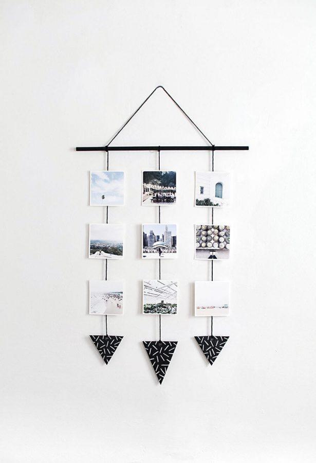 Photo Wall Hanging - DIY Wall Art Ideas