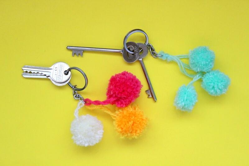 DIY Keychain Ideas - Pom-pom Keychains