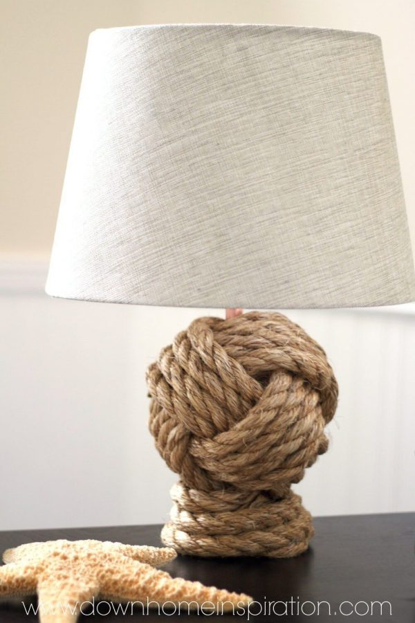 Pottery Barn Knockoff Rope Knot Lamp