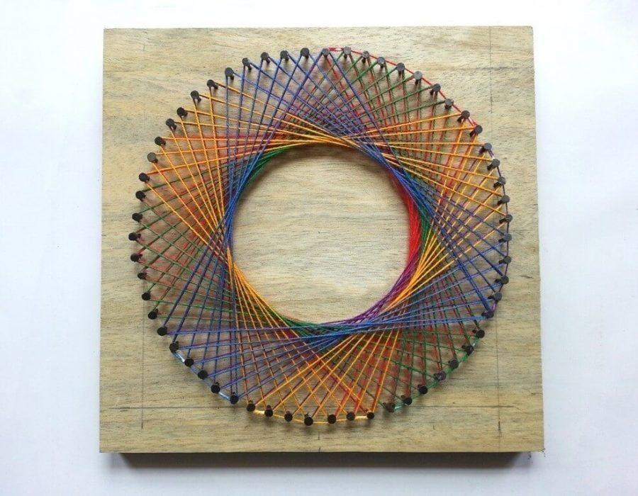 Rainbow String Art