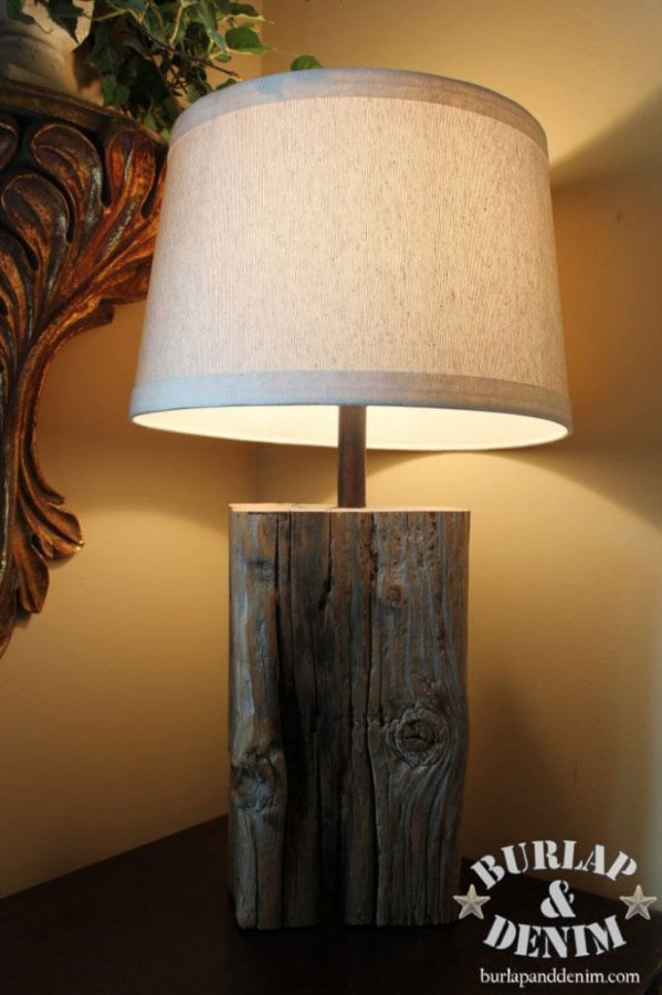 DIY Salvaged Wood Lamp