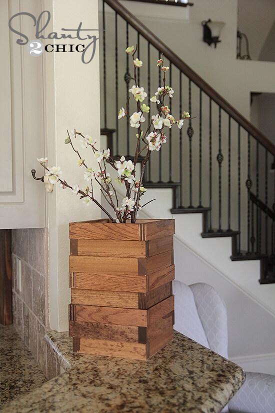 Scrap Wood Vase