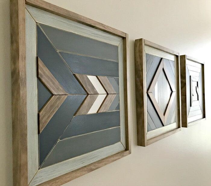 Scrap Wood Wall Art - DIY Wall Art Ideas