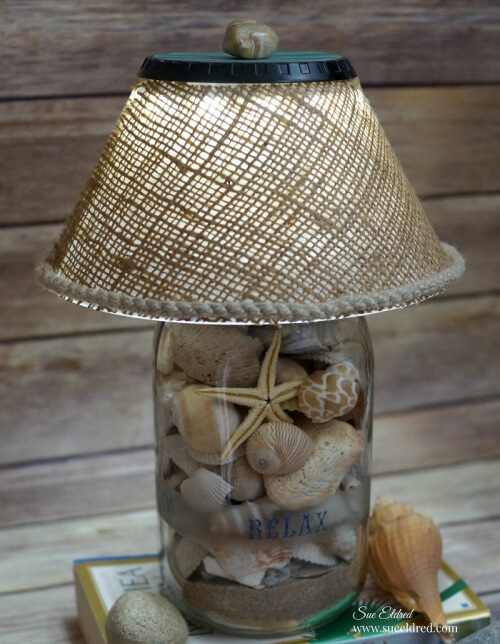 DIY Seashell Lamp - easy to make