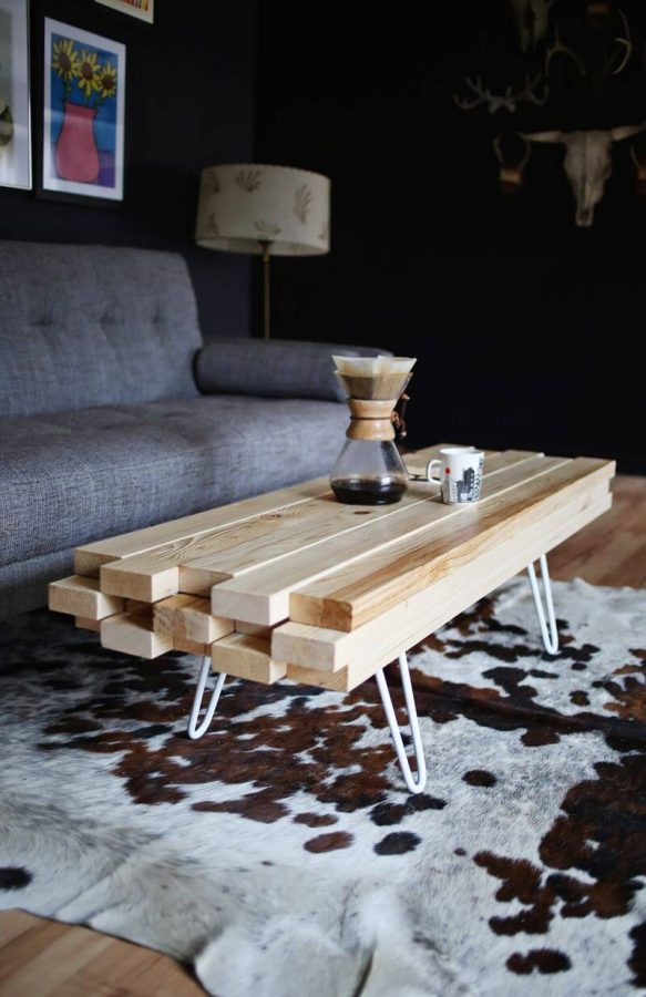 Simple Modern Wooden Coffee Table