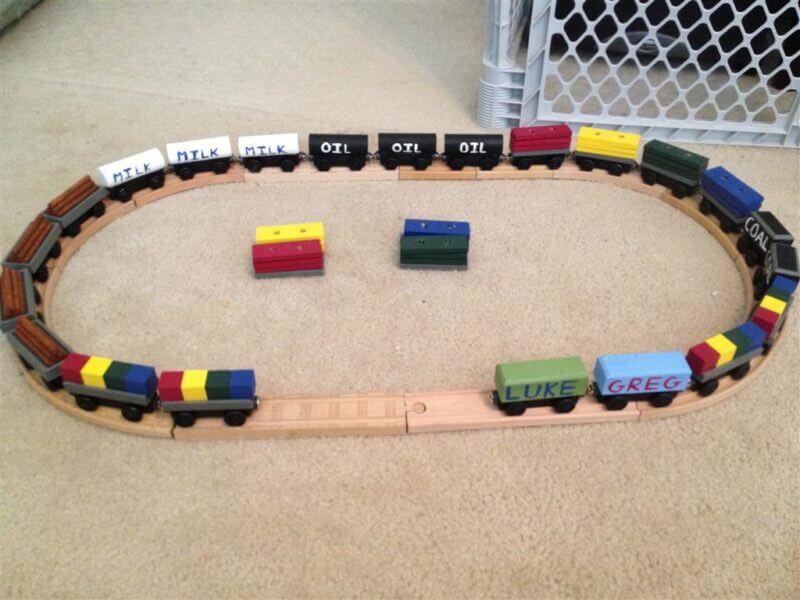 DIY Wooden Train Tracks