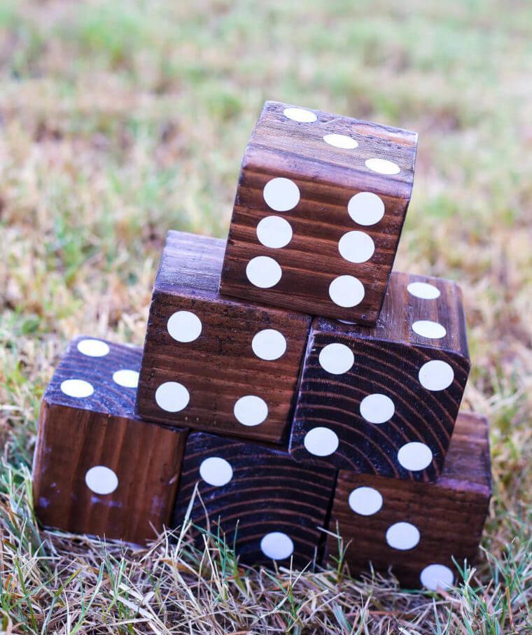 DIY Wooden Toys - Yard Dice