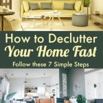 how to de-clutter your home fast