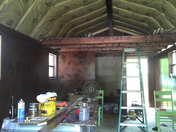 Converting shed into a liveable tinyhouse