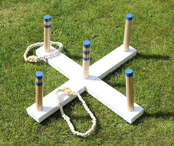 DIY ring toss game - Wooden Toys