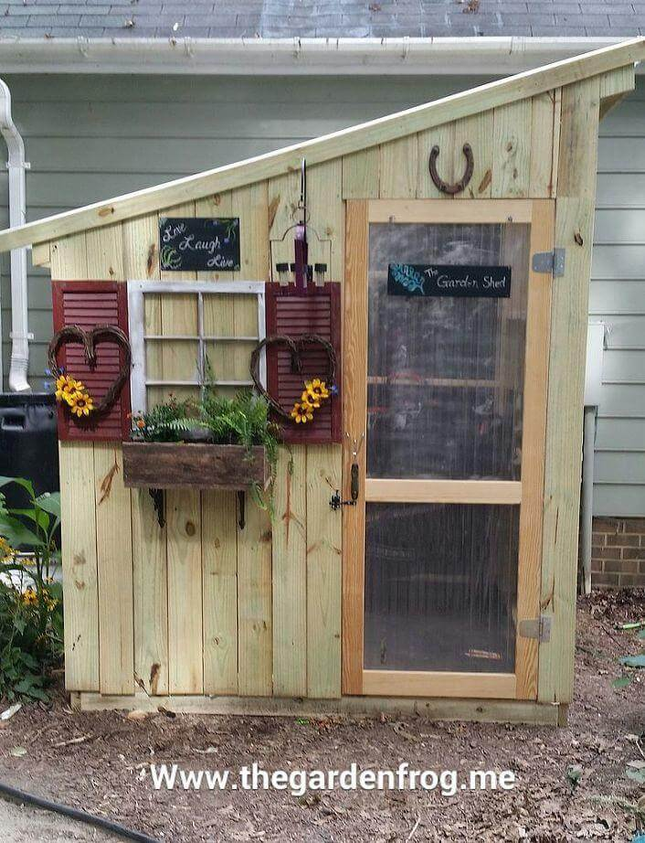 rustic picket garden shed ideas