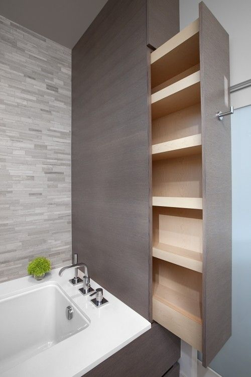 Small bathroom hidden cabinet - how to make a small bathroom look bigger