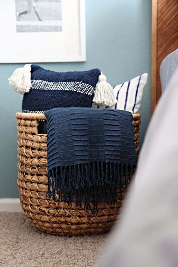 basket for bedroom storage