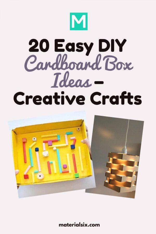 20 Easy DIY Cardboard Box Ideas