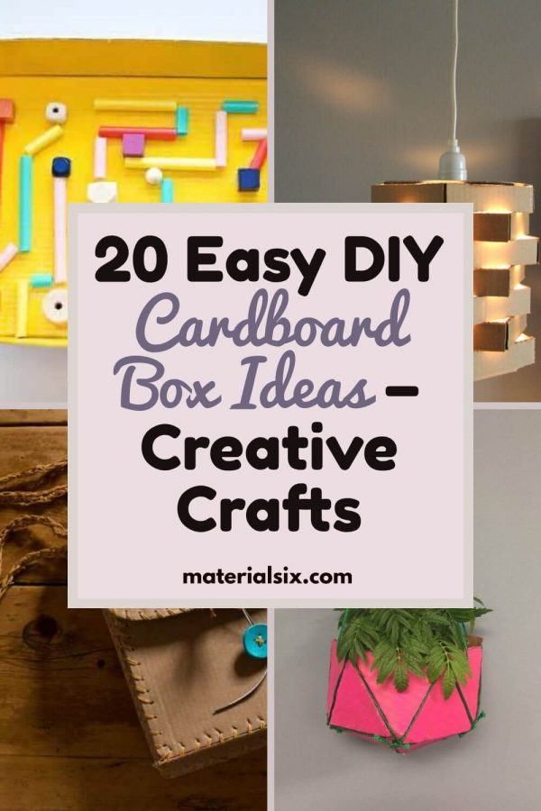 20 Easy DIY Cardboard Box Ideas