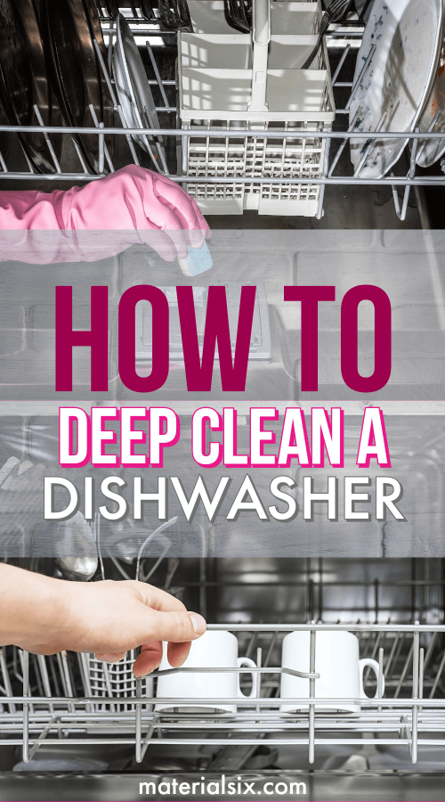 how to deep clean a dishwasher