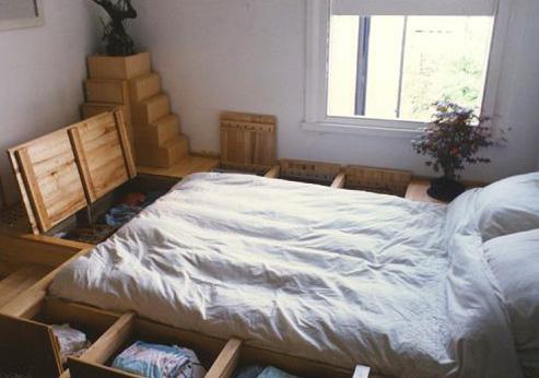 tiny house bedroom storage ideas