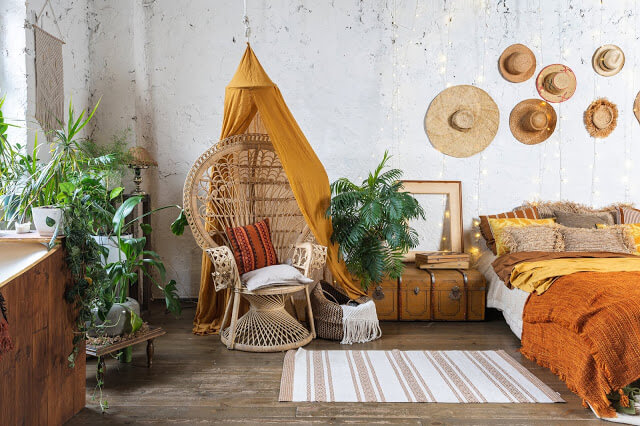 Rustic Bohemian Bedroom
