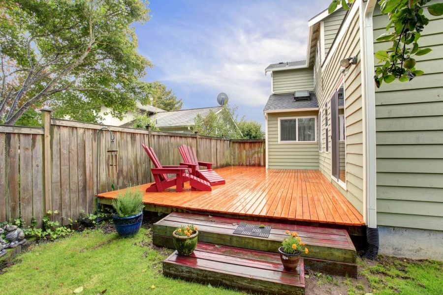 Pair of Wooden Chairs - Deck Decorating IDeas