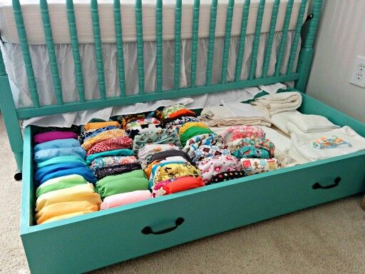Storage under Baby's Crib