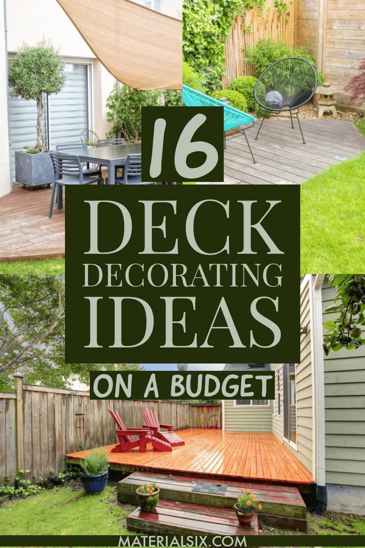 16 Stunning Deck Decorating Ideas on a Budget