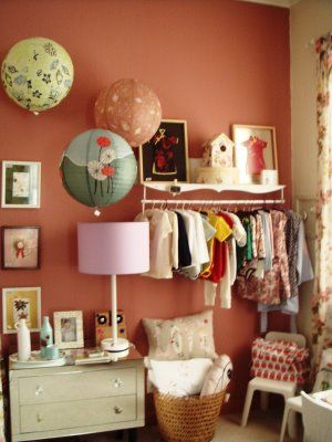 DIY closet for baby clothes
