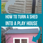 how to turn a shed into a playhouse